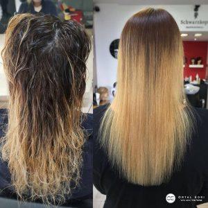 צביעת שיער לפני או אחרי החלקת שיער