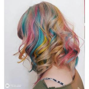 בליאז צבעוני בעמקים אורטל אדרי עיצוב שיער