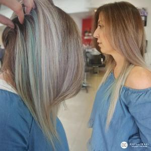 פיקאבו צבעוני בעפולה אורטל אדרי עיצוב שיער