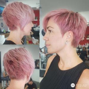 צבע שיער ורוד פסטל בעפולה אורטל אדרי עיצוב שיער