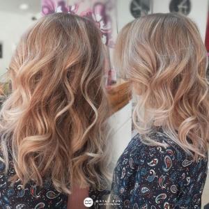 צבע שיער בלונד טבעי אורטל אדרי עיצוב שיער