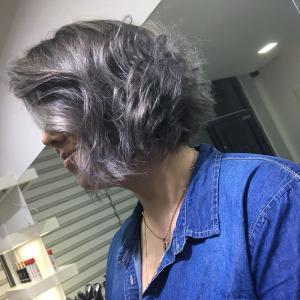 צבע שיער סילבר מספרת אורטל אדרי
