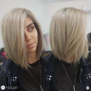 צבע בלונד לשיער קצר בעפולה מספרת אורטל אדרי