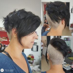 תספורת נשים גלח אחורי בעפולה אורטל אדרי עיצוב שיער בעפולה