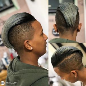 תספורת נשים מוהוק וצבע שיער סילבר אורטל עדרי עיצוב שיער בעפולה