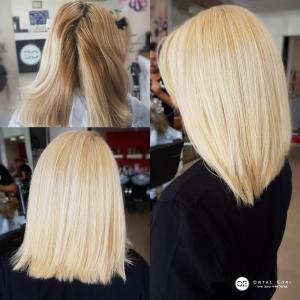 החלקת שיער אורגנית לשיער צבוע אורטל אדרי עיצוב שיער