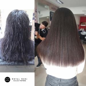 החלקה אורגנית לשיער צבוע מספרת אורטל אדרי בעפולה