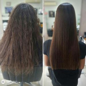 החלקת שיער לשיער פגום בעמקים