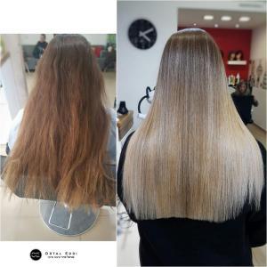 החלקת שיער לשיער בלונדיני במרכז להחלקות שיער בעפולה